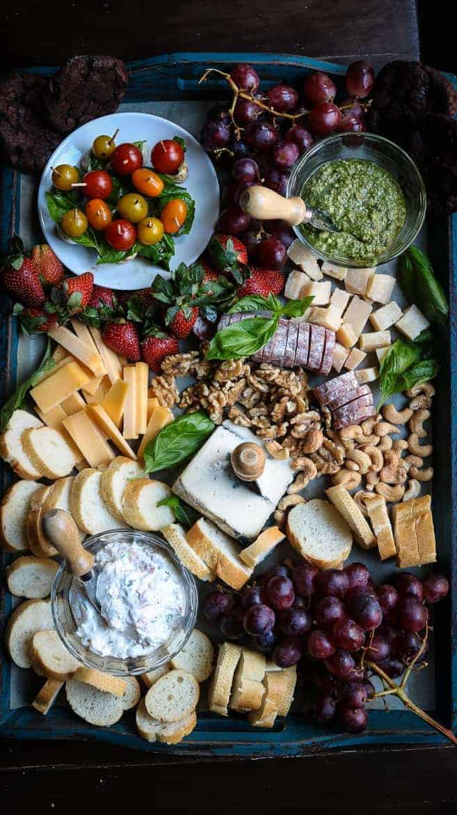 A cheese board perfect for the super bowl or any football game