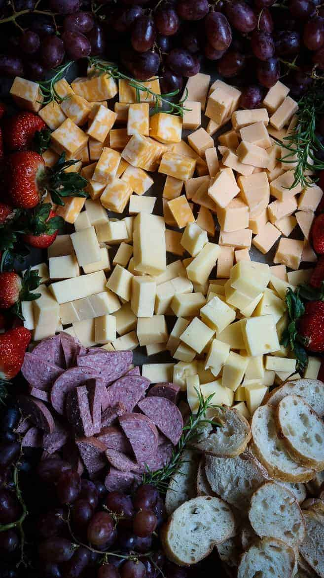 A cheese board for your next pot luck dinner