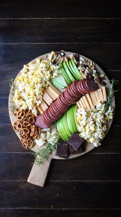 A Cheese Board perfect for a movie night