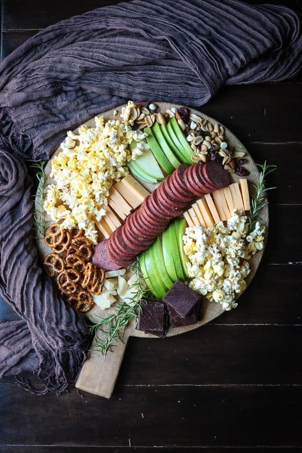 A Cheese Board perfect for movie night