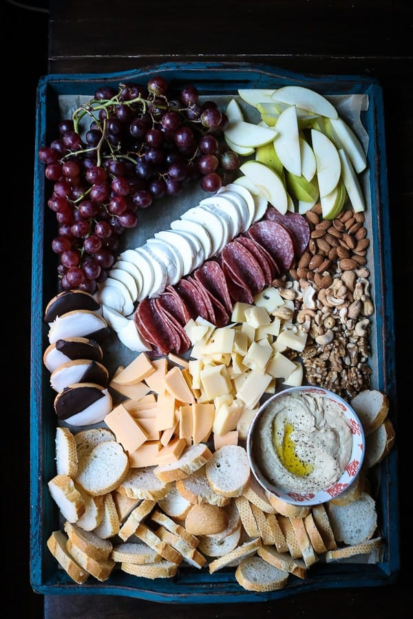 A cheese board perfect for a Texas college football game
