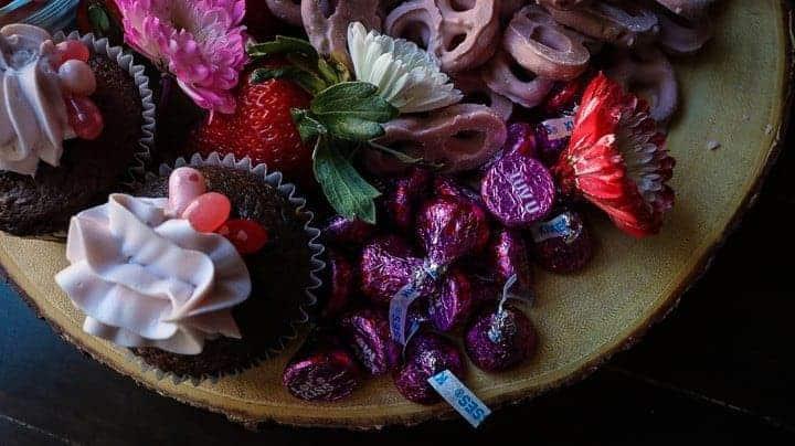 A Dessert board for Valentine's Day