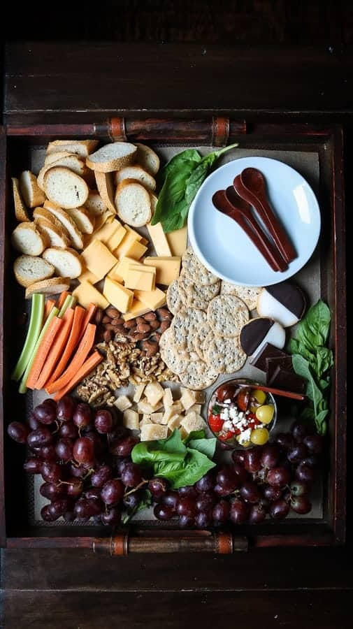 A Cheese Board with a mixture of sweet and savory