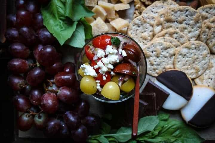 A Cheese Board with sweet and savory