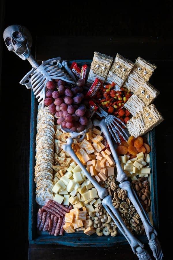 A Halloween Cheese Board