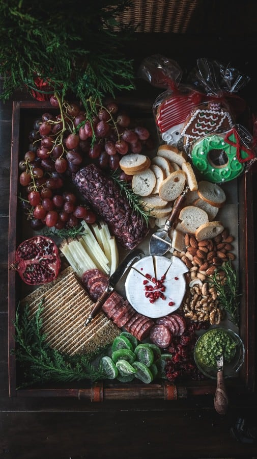 A Christmas Cheese Board