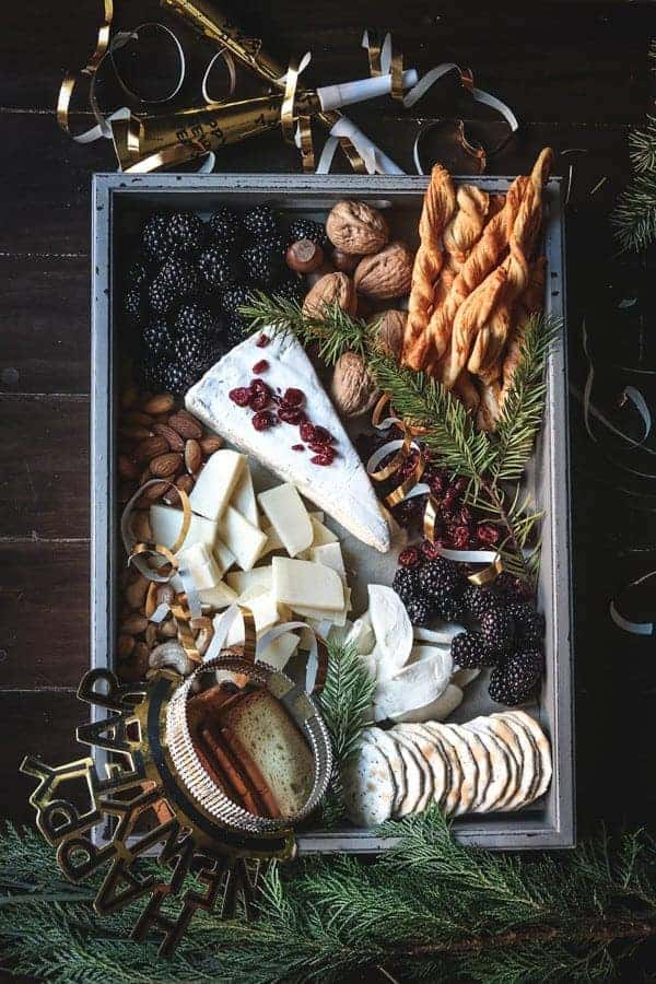 A cheese board perfect for New Year's Eve