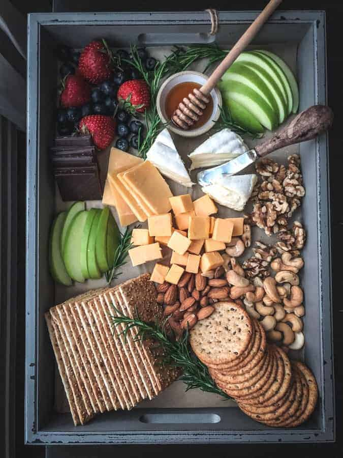 A cheese board perfect for a rainy day