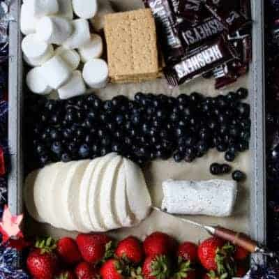 Red, White & Blue Cheese Board