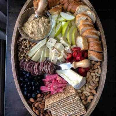 A Hummus Cheese Board