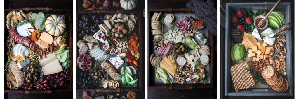 Enjoy a variety of cheese boards