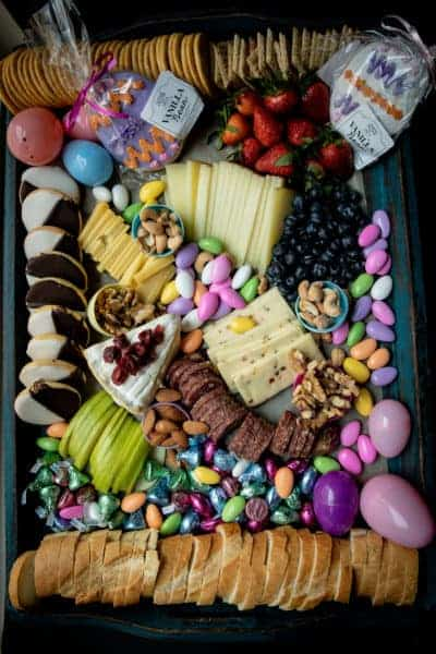 photo of entire easter cheese board